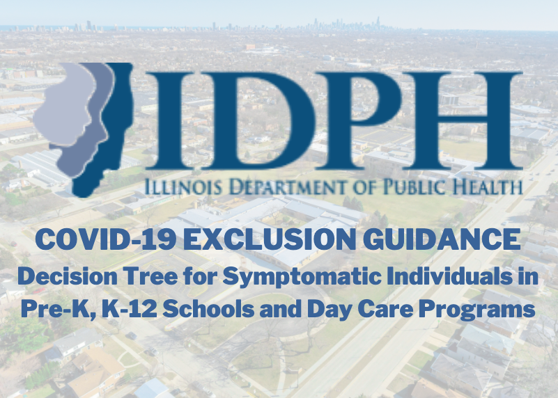 Illinois Department of Public Health COVID-19 EXCLUSION GUIDANCE Decision Tree for Symptomatic Individuals in Pre-K, K-12 Schools and Day Care Programs